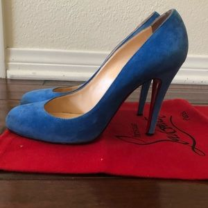 Christian Louboutin Ron Ron in royal blue suede